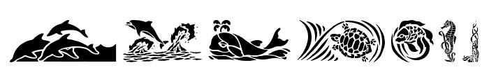 HFF Aqua Stencil Font OTHER CHARS