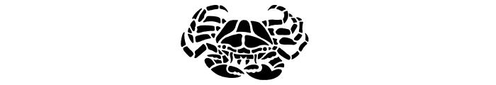 HFF Aqua Stencil Font UPPERCASE