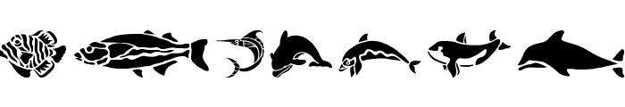 HFF Aqua Stencil Font LOWERCASE