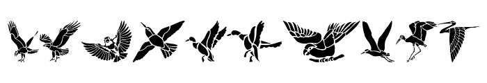 HFF Bird Stencil Font OTHER CHARS