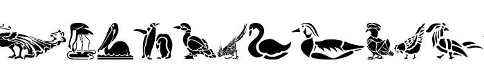 HFF Bird Stencil Font UPPERCASE