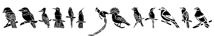 HFF Bird Stencil Font LOWERCASE