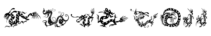 HFF Chinese Dragon Font UPPERCASE