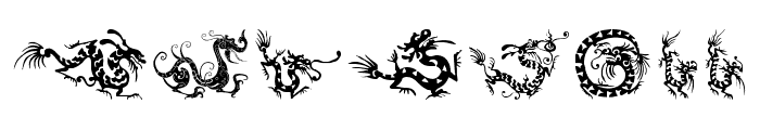 HFF Chinese Dragon Font LOWERCASE