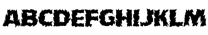 HFF Fire Dancer Font LOWERCASE