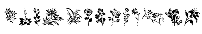 HFF Floral Stencil Font UPPERCASE