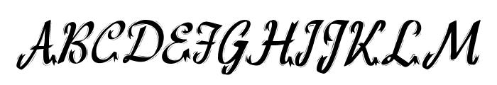 HFF Ribbon Font UPPERCASE
