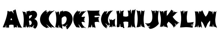 HFF Splintered Dream Font UPPERCASE