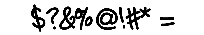 HGTenderfoot Font OTHER CHARS