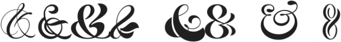 HH Ampersand Pack ttf (400) Font UPPERCASE