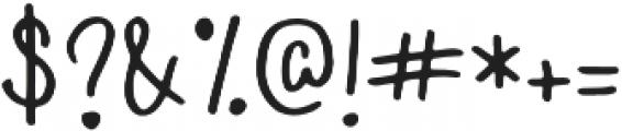 Hi Sunshine Regular otf (400) Font OTHER CHARS
