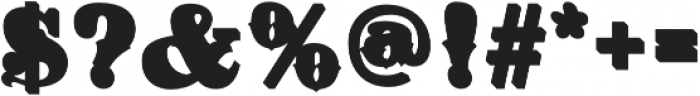 Hickory Fill Two Regular otf (400) Font OTHER CHARS