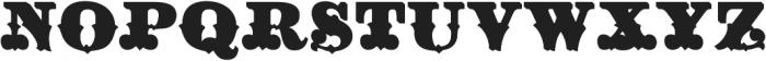 Hickory Fill Two Regular otf (400) Font UPPERCASE