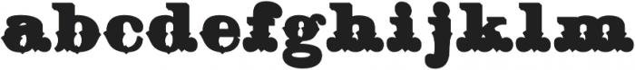 Hickory Fill Two Regular otf (400) Font LOWERCASE