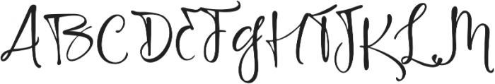 Highland Script Regular ttf (400) Font UPPERCASE