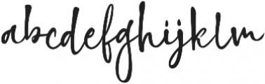 Highland Script Regular ttf (400) Font LOWERCASE