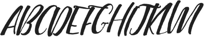 Highline Alternates Slanted otf (400) Font UPPERCASE