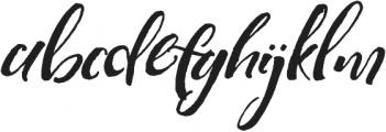 Highline Alternates Slanted otf (400) Font LOWERCASE