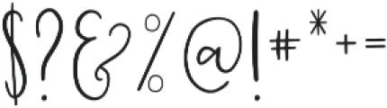 Highwaisted otf (400) Font OTHER CHARS