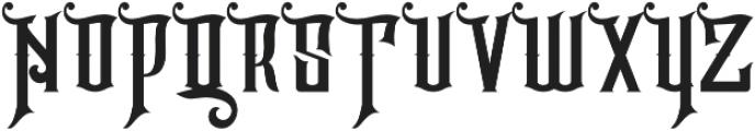 Hijrah Regular otf (400) Font UPPERCASE