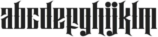 Hijrah Regular otf (400) Font LOWERCASE