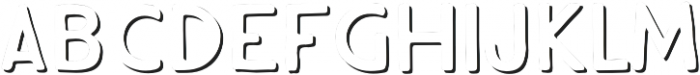 Hiker Shadow One otf (400) Font LOWERCASE