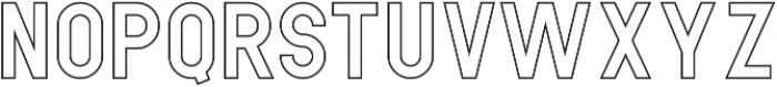 Hikou Outline otf (400) Font LOWERCASE