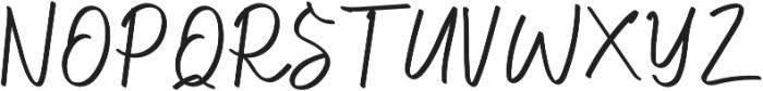 Hilburg Script otf (400) Font UPPERCASE
