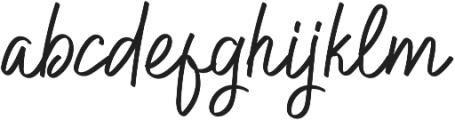 Hilburg Script otf (400) Font LOWERCASE