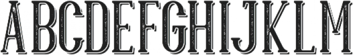 Hillenberg Press Shadow otf (400) Font UPPERCASE