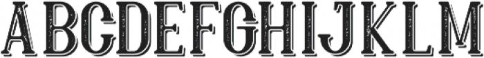 Hillenberg Press Shadow otf (400) Font LOWERCASE