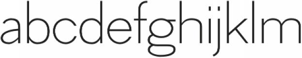 Hilton Sans Regular otf (400) Font LOWERCASE