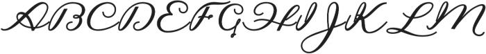 Hilwen Script Bold Regular otf (700) Font UPPERCASE