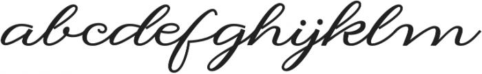 Hilwen Script Bold Regular otf (700) Font LOWERCASE