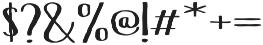 Hinterland Short Regular otf (400) Font OTHER CHARS