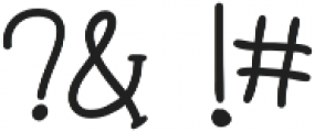 Hipster Hand Drawn otf (400) Font OTHER CHARS