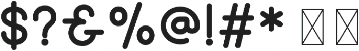 Hipster Sans Bold ttf (700) Font OTHER CHARS
