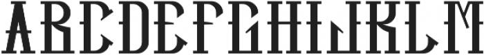 HipsterFont Regular otf (400) Font LOWERCASE