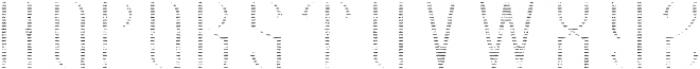 HipsterFont TextureFX otf (400) Font LOWERCASE