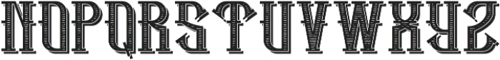 HipsterFont TextureShadow otf (400) Font UPPERCASE