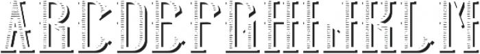 HipsterFont TextureShadowFX otf (400) Font UPPERCASE
