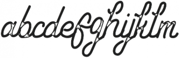 Hipstetic Monoline Bonus otf (400) Font LOWERCASE