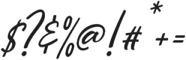 Hiroshima Script Slant Regular ttf (400) Font OTHER CHARS