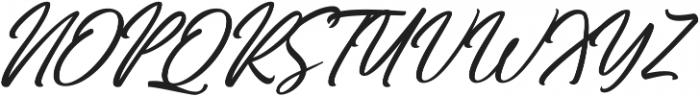 Hiroshima Script Slant Regular ttf (400) Font UPPERCASE