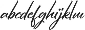 Hiroshima Script Slant Regular ttf (400) Font LOWERCASE