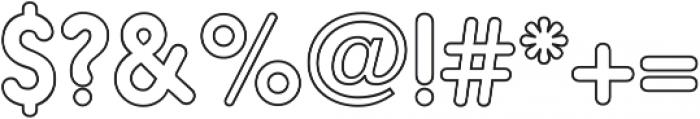 Hiruko Pro Outline ttf (400) Font OTHER CHARS