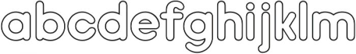 Hiruko Pro Outline ttf (400) Font LOWERCASE
