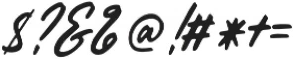 Histeria Slant otf (400) Font OTHER CHARS