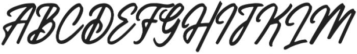 Histeria Slant otf (400) Font UPPERCASE