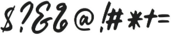 Histeria otf (400) Font OTHER CHARS